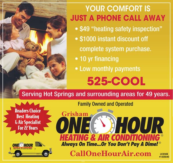 $49 heating safety inspection, $1000 instant discount off complete system purchase, 10 year financing, low monthly payments